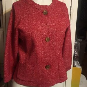Jacket two front pockets 3button  knit